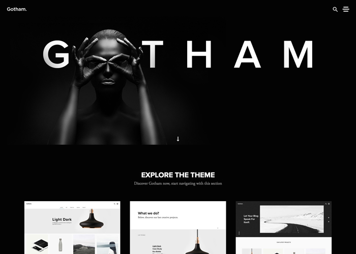 Gotham | Best CSS Award | Apps and Web Design Gallery