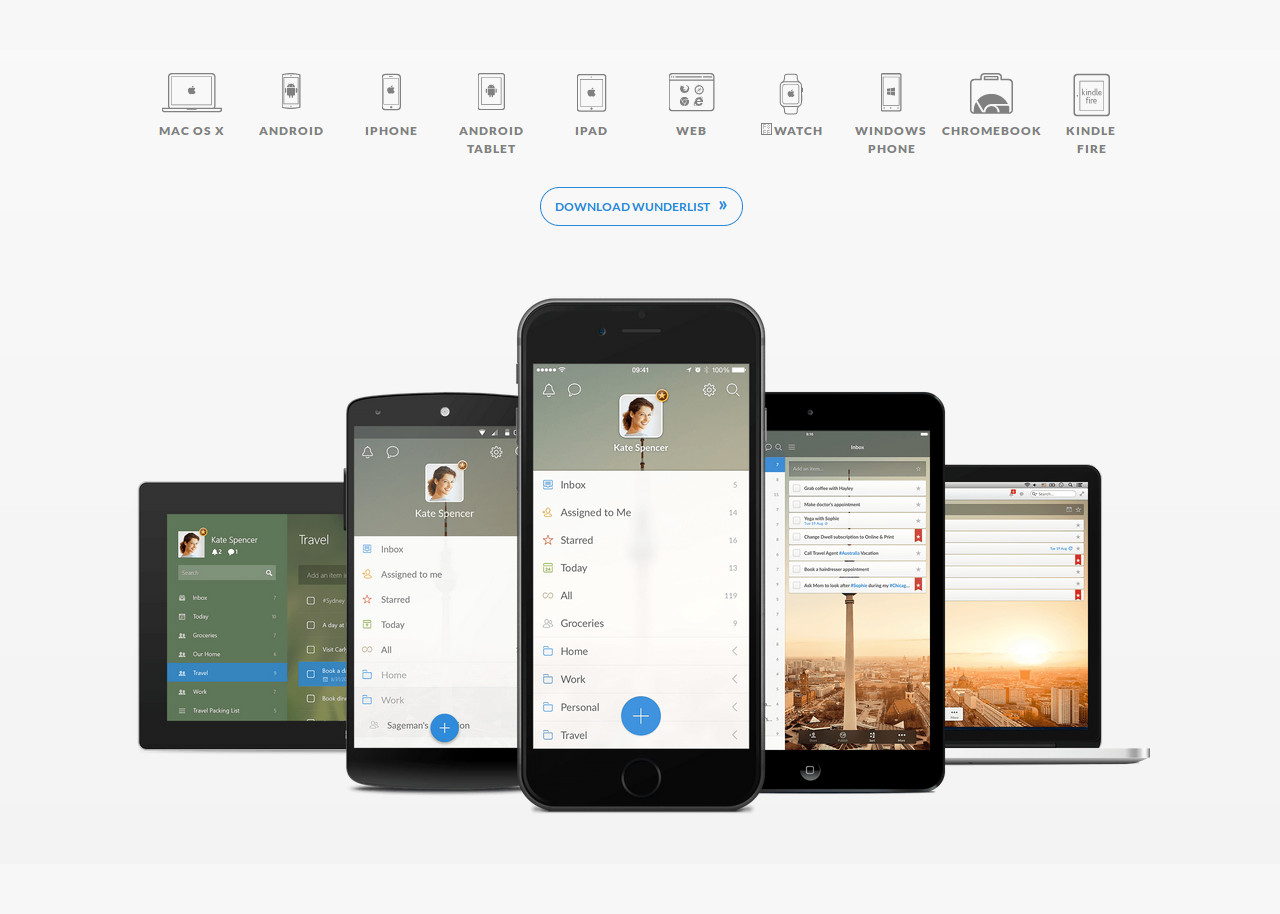 Wunderlist | Best CSS Award | Apps and Web Design Gallery