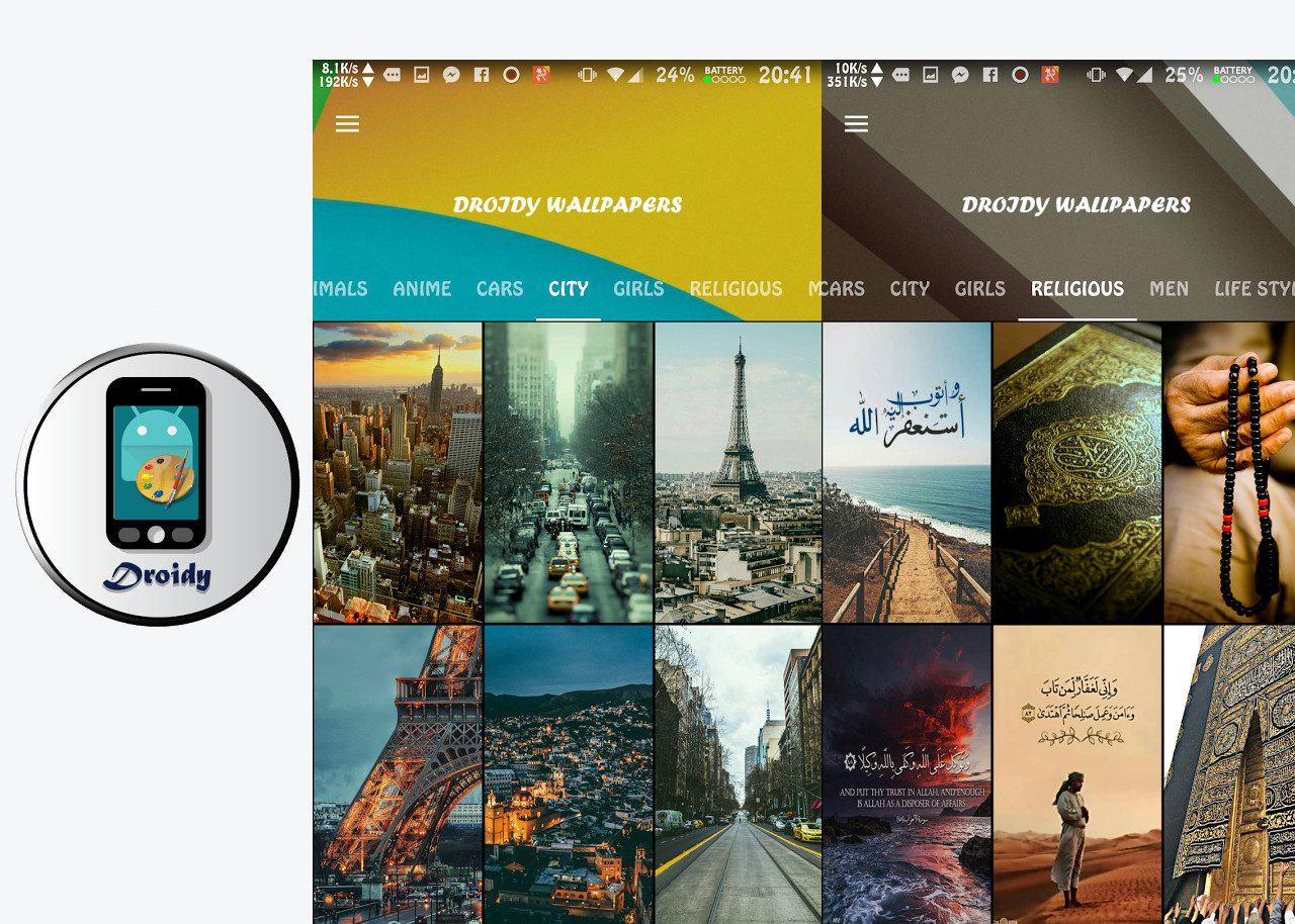 Droidy Wallpapers | Best CSS Award | Apps and Web Design Gallery Inspiration