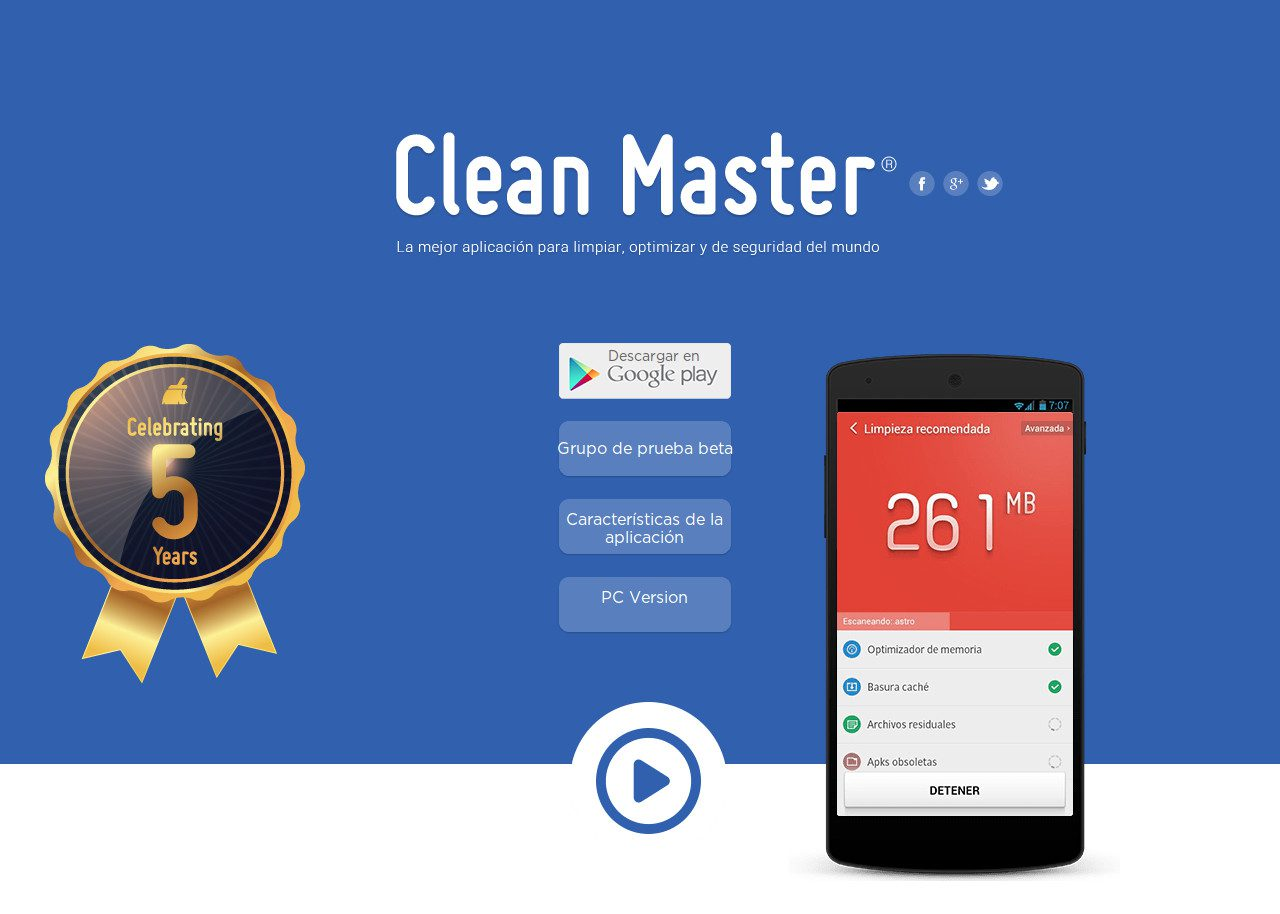 Clean Master | Best CSS Award | Apps and Web Design Gallery